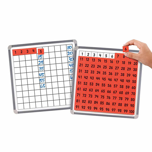 Educational Insights Magnetic 100 Board & Tiles