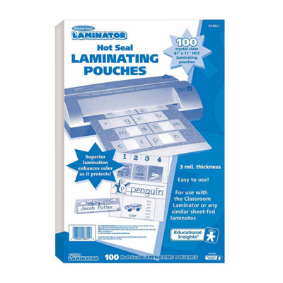 "Educational Insights Classroom Laminator Hot Laminating Pouches  (8.5"" x 11"")"""