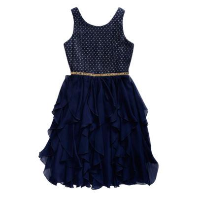 Emily West Embellished Sleeveless Peplum Dress - Big Kid Girls