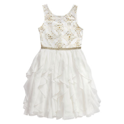 Emily West Sleeveless  Peplum Dress - Big Kid Girls