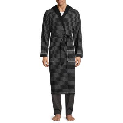 Residence Men's Knit Hooded Long Sleeve Robe