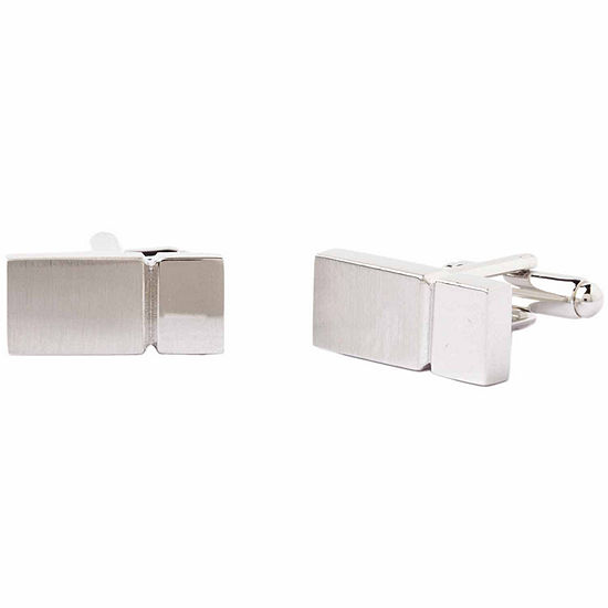 Collection By Michael Strahan Rhodium-Plated Cuff Links