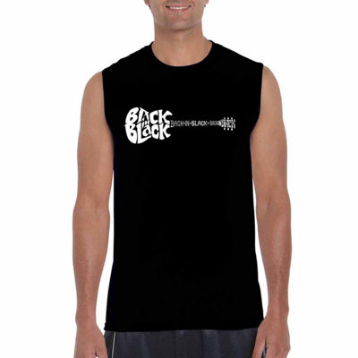 Los Angeles Pop Art Back In Black Tank Top Big and Tall
