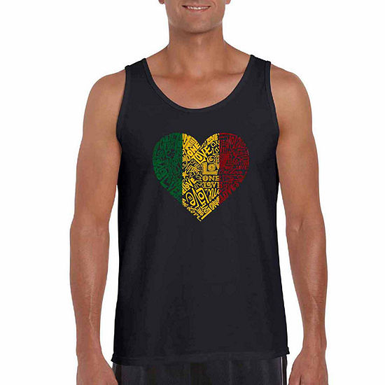 Los Angeles Pop Art Big and Tall One Love Heart Mens Tank Top