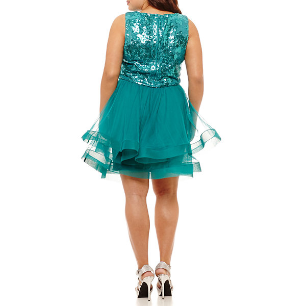 City Triangle Sleeveless Party Dress-Juniors Plus