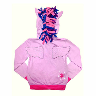 My Little Pony Toddler Girls Twilight Sparkle Costume Hoodie with Crystalline and 3D Mane and Wings