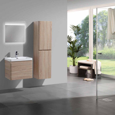 "Moreno Bath Happy 24"" Wall Mounted Modern Bathroom Vanity with 1 Drawer and Reinforced Acrylic Sink"