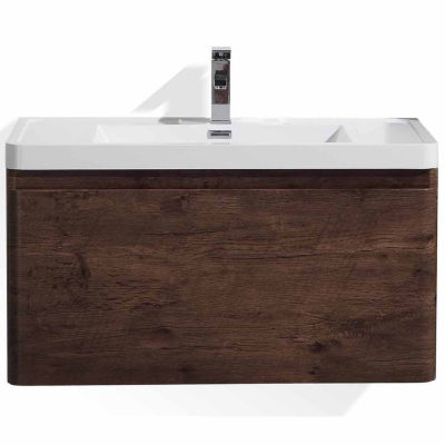 "Moreno Bath Happy 36"" Wall Mounted Modern BathroomVanity with 1 Drawer and Reinforced Acrylic Sink"""