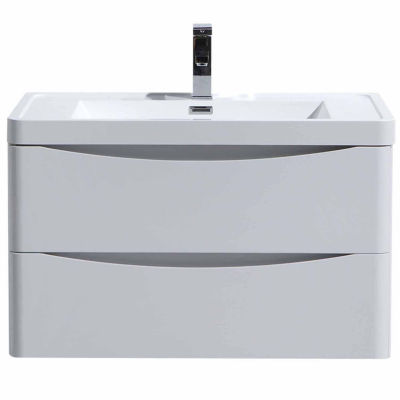 """Moreno Bath Smile  32"""" Wall Mounted Modern Bathroom Vanity with 1 Drawer and Reinforced Acrylic Sink"""""""