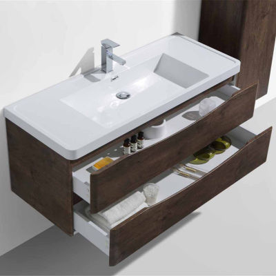 "Moreno Bath Happy 48"" Wall Mounted Modern BathroomVanity with 1 Drawer and Reinforced Acrylic Sink"""