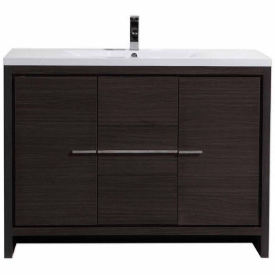 "Moreno Bath MOD 48"" Free Standing Modern BathroomVanity With 2 Doors and 3 Drawers and Acrylic Sink"