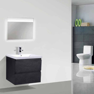 "Moreno Bath  MOB 24"" Wall Mounted Modern BathroomVanity With Reinforced Acrylic Sink"""