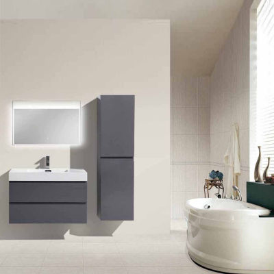 "Moreno Bath MOF 36"" Wall Mounted Modern Bathroom Vanity with Acrylic Sink"""