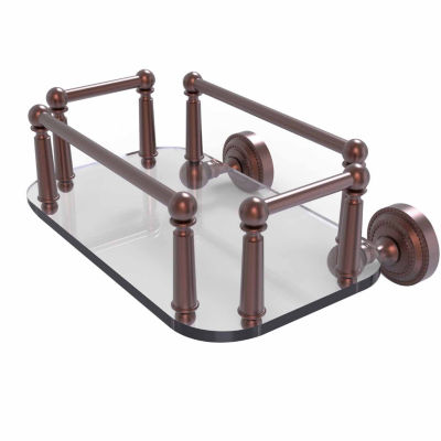 Allied Brass Dottingham Collection Wall Mounted Glass Guest Towel Tray
