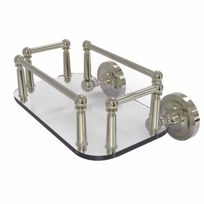 Allied Brass Prestige Regal Collection Wall Mounted Glass Guest Towel Tray