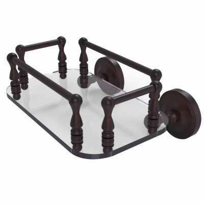 Allied Brass Que New Collection Wall Mounted GlassGuest Towel Tray