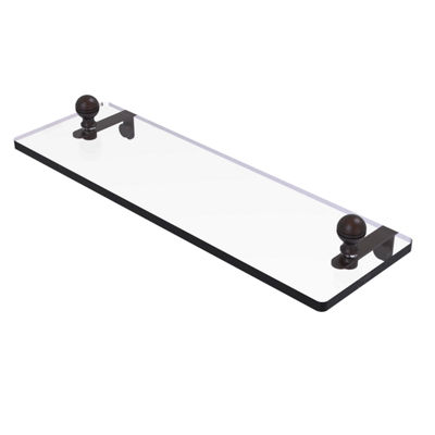Allied Brass Mambo 16 IN Glass Vanity Shelf With Beveled Edges