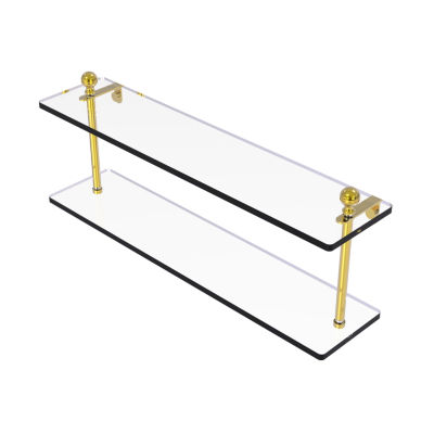 Allied Brass Mambo Collection 22 IN Two Tiered Glass Shelf