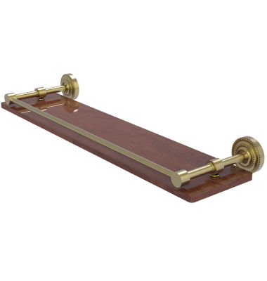 Allied Brass Dottingham Collection 22 IN Solid IpeIronwood Shelf With Gallery Rail