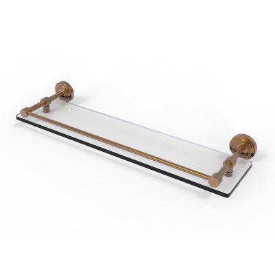 Allied Brass Dottingham 22 IN Glass Shelf With Gallery Rail