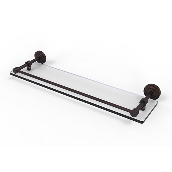 Allied Brass Dottingham 22 IN Glass Shelf With Gallery Rail