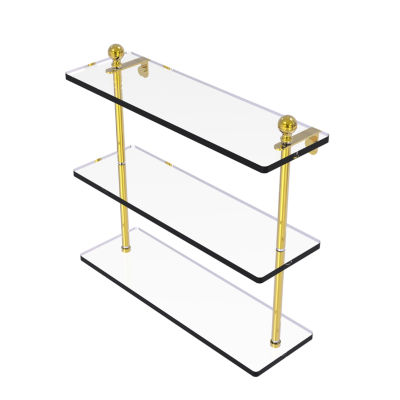 Allied Brass Mambo Collection 16 IN Triple TieredGlass Shelf