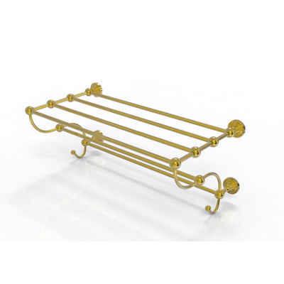 Allied Brass Dottingham Collection 24 IN Train Rack Towel Shelf