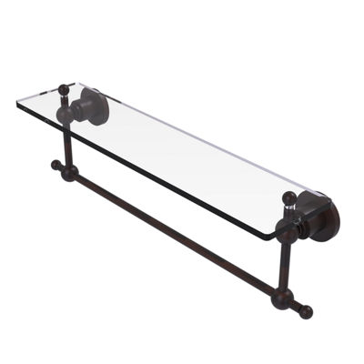 Allied Brass Astor Place 22 IN  Glass Vanity ShelfWith Integrated Towel Bar