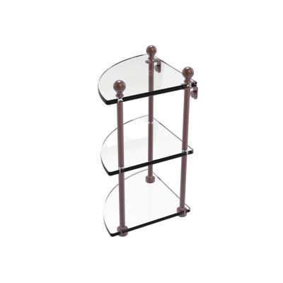 Allied Brass Mambo Collection 3 Tier Corner Glass Shelf