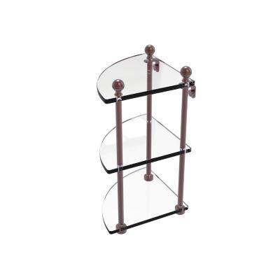 Allied Brass Mambo Collection 3 Tier Corner GlassShelf