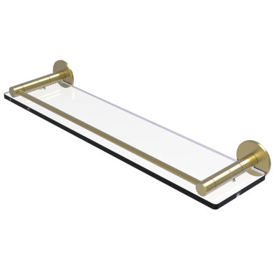 Allied Brass Fresno Collection 22 IN Glass Shelf With Vanity Rail