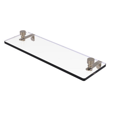 Allied Brass Foxtrot 16 IN  Glass Vanity Shelf  With Beveled Edges