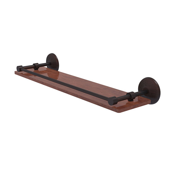 Allied Brass Monte Carlo Collection 22 IN Solid Ipe Ironwood Shelf With Gallery Rail