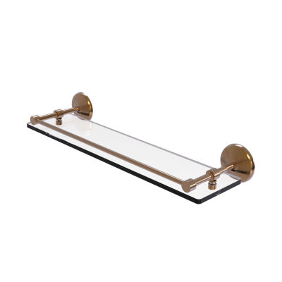 Allied Brass Monte Carlo 22 IN Tempered Glass Shelf With Gallery Rail