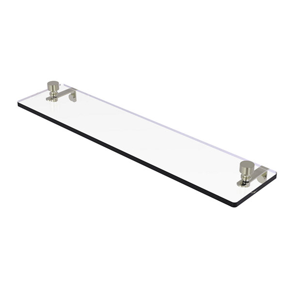 Allied Brass Foxtrot 22 IN Glass Vanity Shelf  With Beveled Edges