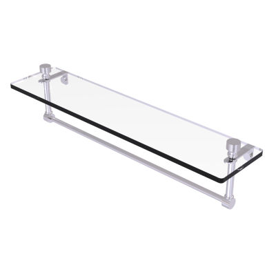 Allied Brass Foxtrot 22 IN  Glass Vanity Shelf  With Integrated Towel Bar