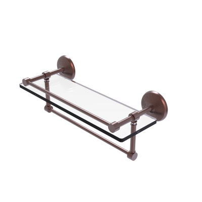 Allied Brass 16 IN Gallery Glass Shelf With Towel Bar