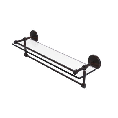 Allied Brass 22 IN Gallery Glass Shelf With Towel Bar
