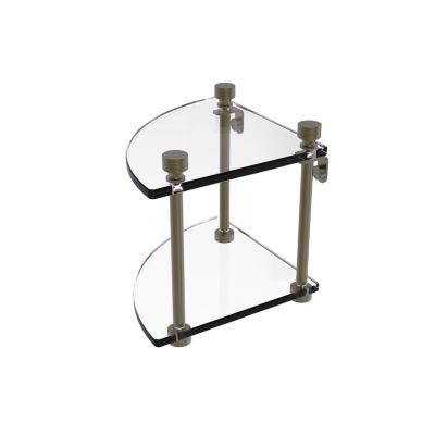 Allied Brass Foxtrot Collection Two Tier Corner Glass Shelf