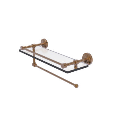 Allied Brass Dottingham Collection Paper Towel Holder With 16 IN Gallery Glass Shelf