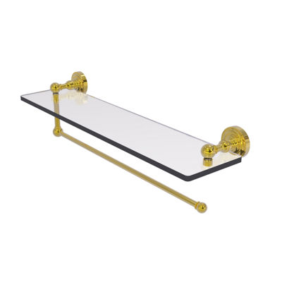 Allied Brass Dottingham Collection Paper Towel Holder With 22 IN Glass Shelf