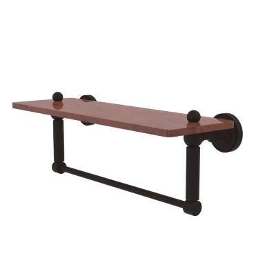 Allied Brass Dottingham Collection 16 IN Solid IpeIronwood Shelf With Integrated Towel Bar