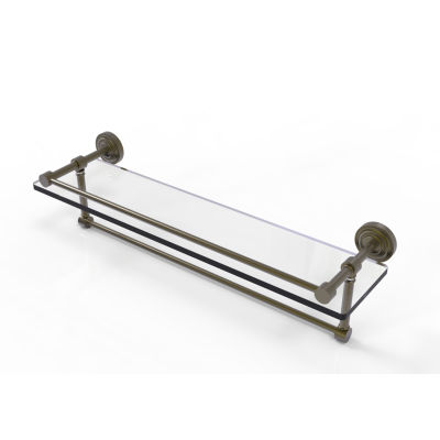 Allied Brass Dottingham 22 IN Gallery Glass ShelfWith Towel Bar