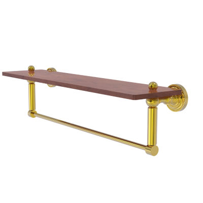 Allied Brass Dottingham Collection 22 IN Solid IpeIronwood Shelf With Integrated Towel Bar