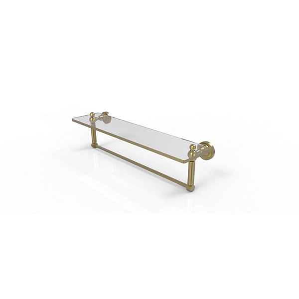 Allied Brass Dottingham 22 IN  Glass Vanity ShelfWith Integrated Towel Bar