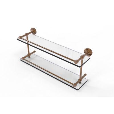 Allied Brass Dottingham 22 IN Double Glass Shelf With Gallery Rail