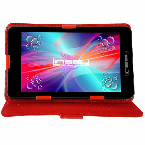 """LINSAY 7"""" Quad-Core 2GB RAM 16GB Android 9.0 Pie Tablet with Standing Case"""