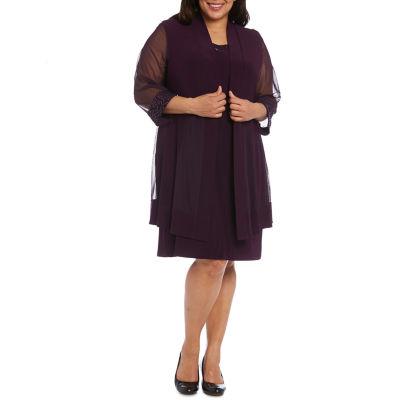 R & M Richards Lace Jacket Dress - Plus