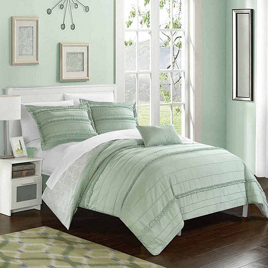 Chic Home Eliza 8-pc. Embroidered Duvet Cover Set