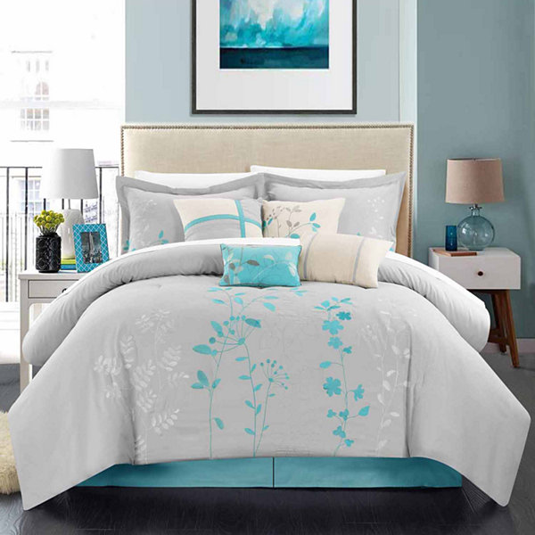 Chic Home Bliss Garden 8 Pc Midweight Comforter Set Jcpenney